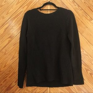 ZARA Open Back Cable Knit Sweater